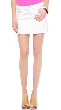 MOTHER A-Line Mini Fray Skirt