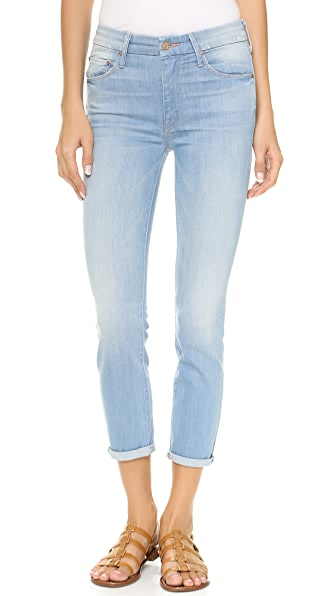 MOTHER The Looker High Rise Skinny Crop Jeans