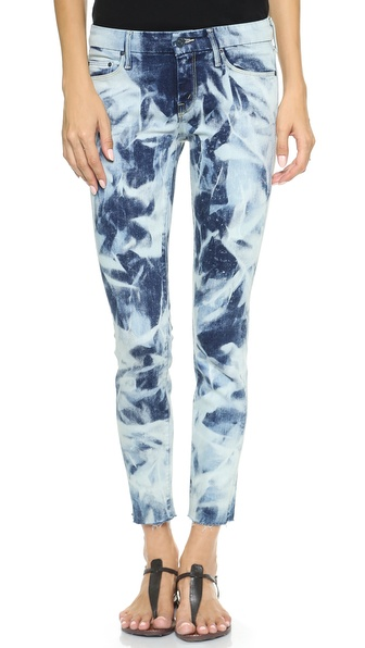 MOTHER The Looker Frayed Skinny Jeans