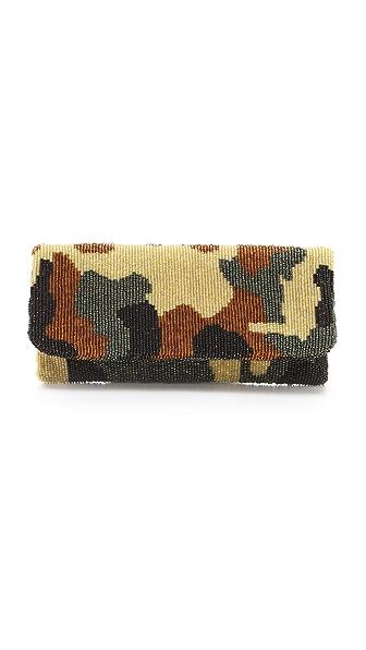 MOYNA Camouflage Fold Over Clutch
