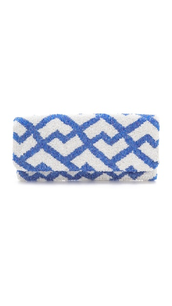 MOYNA Fold Over Geometric Clutch