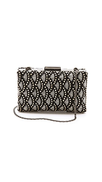 MOYNA Beaded Box Clutch