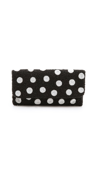 MOYNA Polka Dot Clutch