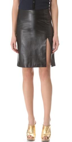 M. PATMOS Ernst Leather Skirt