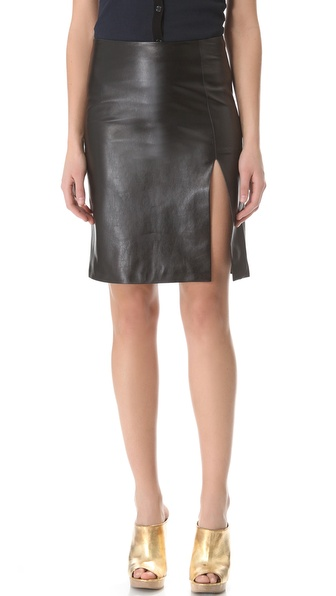 M. PATMOS Ernst Leather Skirt
