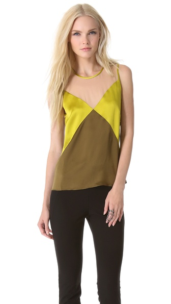 M. PATMOS Seamed Silk Top