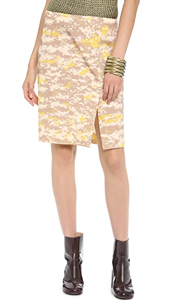 M.PATMOS Ikat Pixel Pencil Skirt