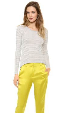 M. PATMOS Striped Layering Crew Top