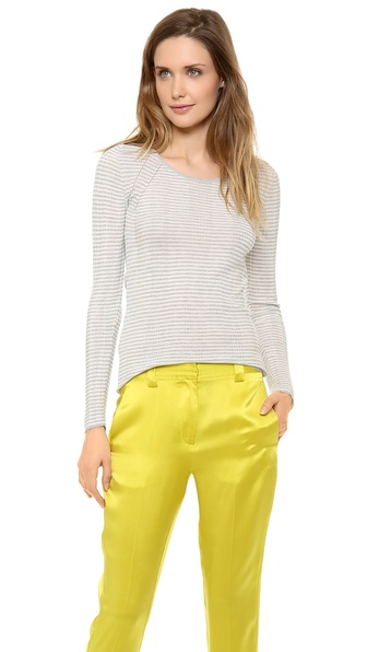 M.PATMOS Striped Layering Crew Top