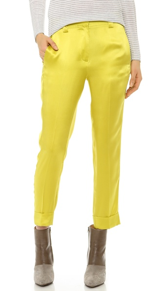 M. PATMOS Silk Boyfriend Trousers