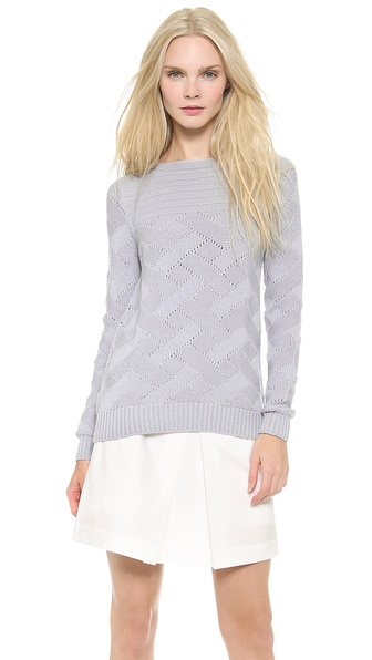 M. PATMOS Basketweave Sweater