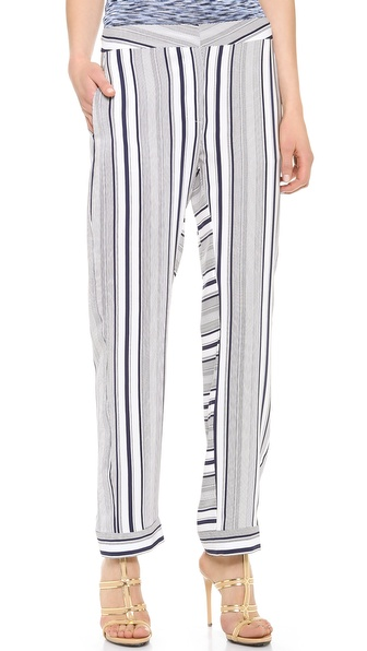 M. PATMOS Striped Pajama Pants