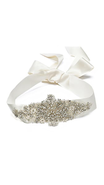 Marchesa Crystal Ribbon Belt