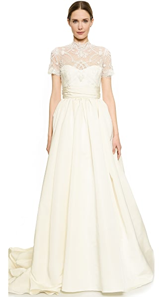 Bodice Bodice Lace Bodice Ball Gown (White)