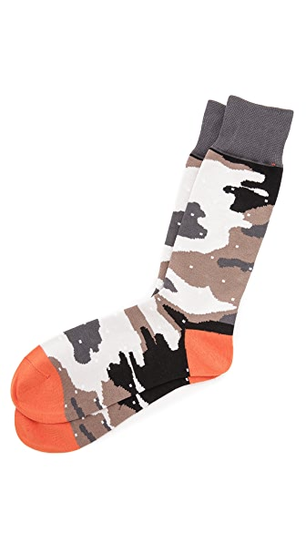 Mr. Gray Camo Dots Socks