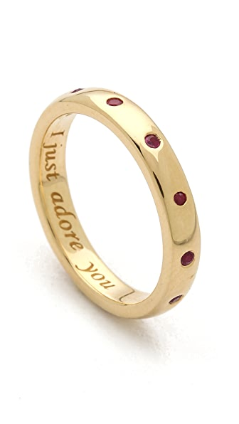 Monica Rich Kosann I Just Adore You Ruby Ring