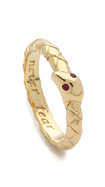 Monica Rich Kosann Never Fear Snake Ruby Ring