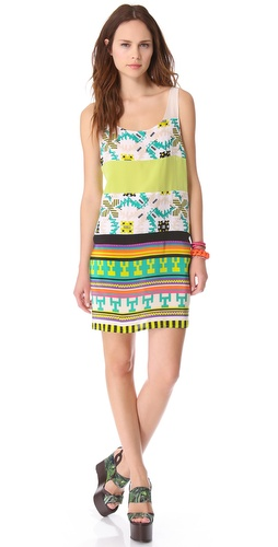 MSGM Tribal Patchwork Tank Dress