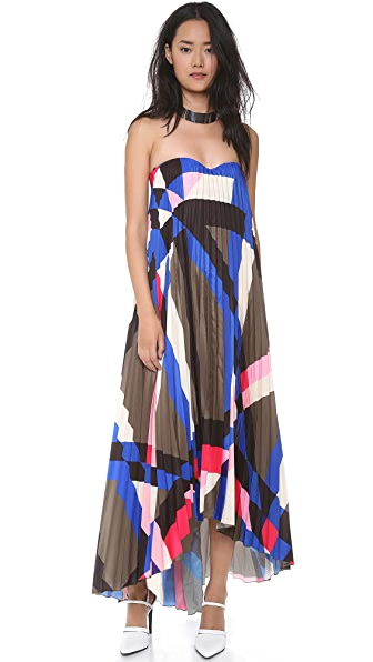 MSGM Pleated Bustier Gown