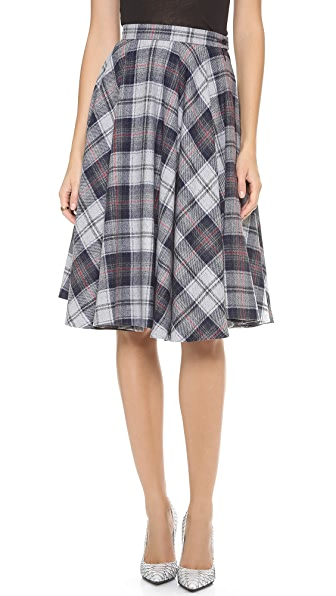 MSGM Plaid Skirt