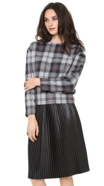 MSGM Plaid Top
