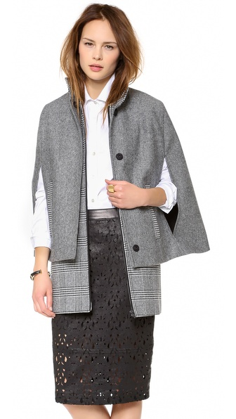 MSGM Houndstooth Cape