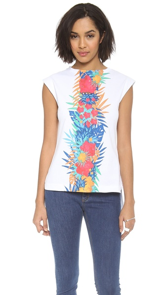 MSGM Floral Muscle Tee