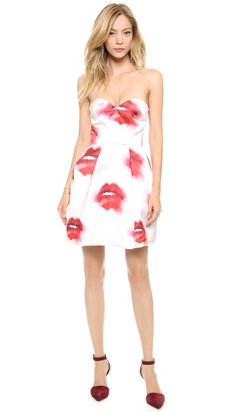 MSGM Strapless Lips Dress