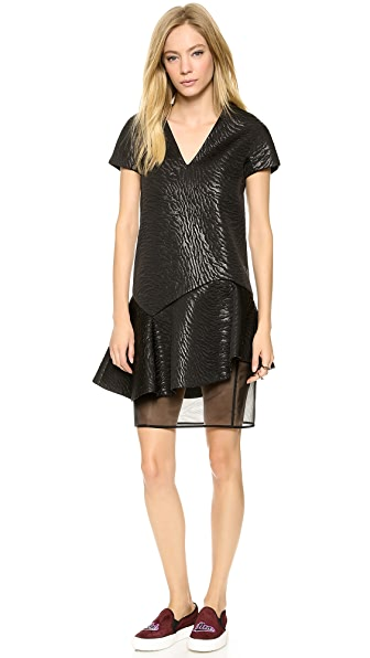 MSGM Zebra Neoprene Structured Dress