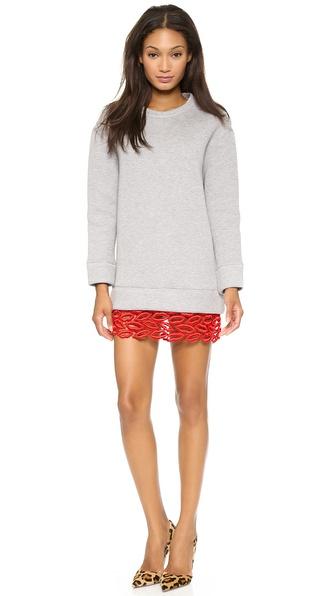MSGM Sweatshirt Dress with Red Lips