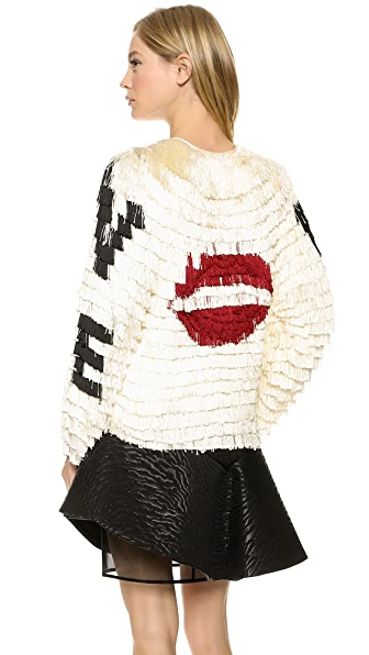 MSGM Fringe Love Jacket