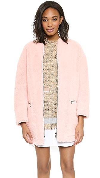 MSGM Faux Shearling Coat