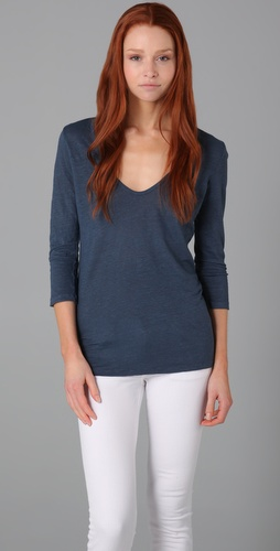 Majestic U Neck Stonewashed Tunic