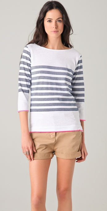 Majestic Triple Stripe Top