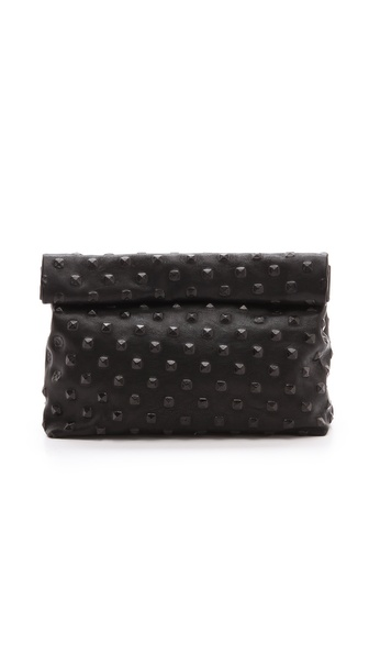 Marie Turnor Accessories The Pyramid Stud Lunch Clutch