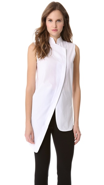 Mugler Asymmetrical Sleeveless Shirt