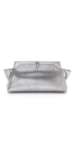 Mugler Naboo Metallic Clutch
