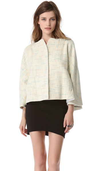 Mugler Plaid Swing Jacket