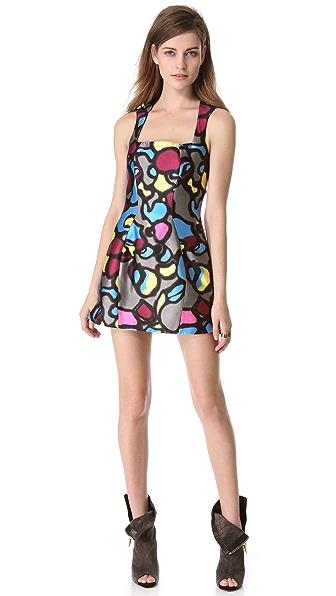Mugler Sleeveless Printed Dress