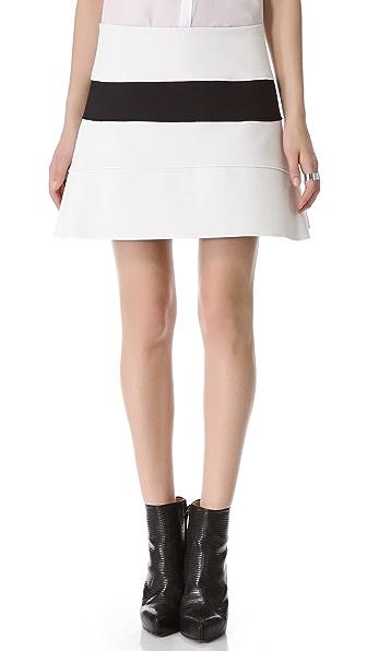 Mugler Two Tone Miniskirt