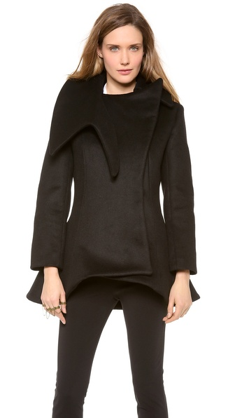 Mugler Black Short Coat