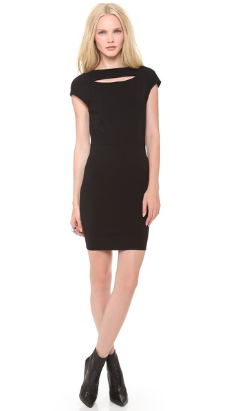 Mugler Milano Keyhole Mini Dress