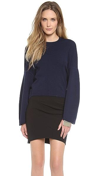 Mugler Oversized Knit Sweatshirt