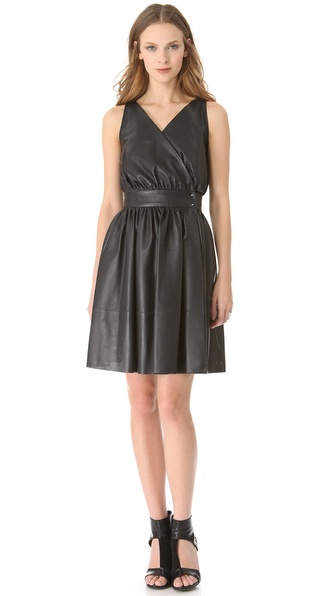 MAISON ULLENS Perforated Leather Dress