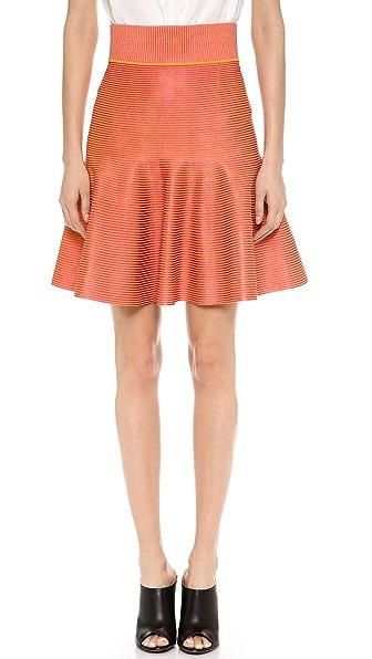 MAISON ULLENS Striped Knit Skirt