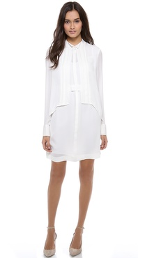 Marchesa Voyage Tired Tuxedo Dress