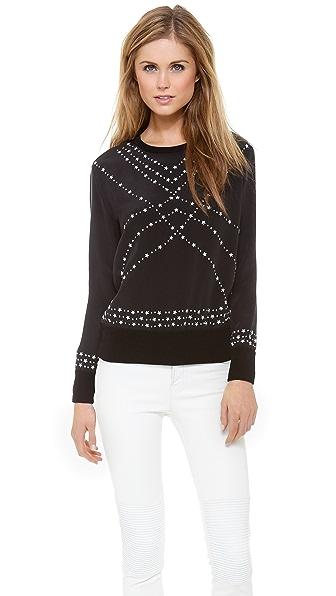 Marchesa Voyage Star Studded Sweatshirt