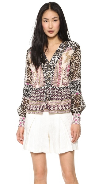Marchesa Voyage Multi Print Mix Top