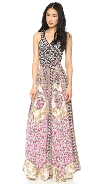 Marchesa Voyage Mix Maxi Dress