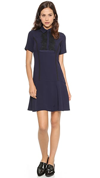 Marchesa Voyage Crepe and Lace Dress